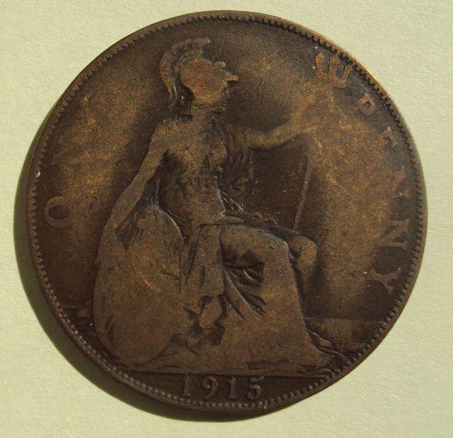 A genuine 1915 penny