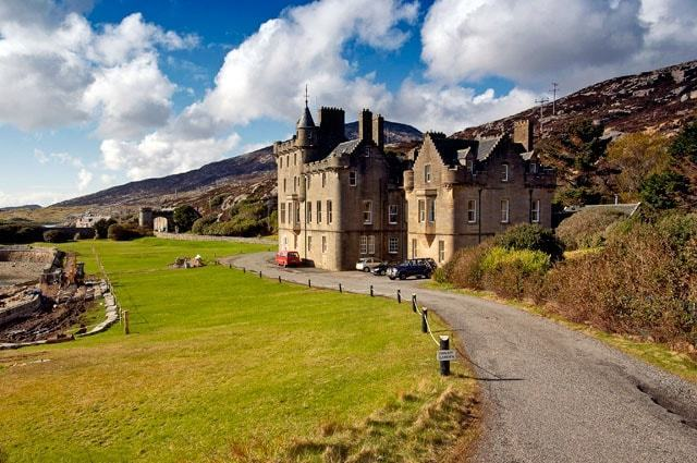 Amhuinnsuidhe Castle on the Isle of Harris, one of the Western Isles of Scotland