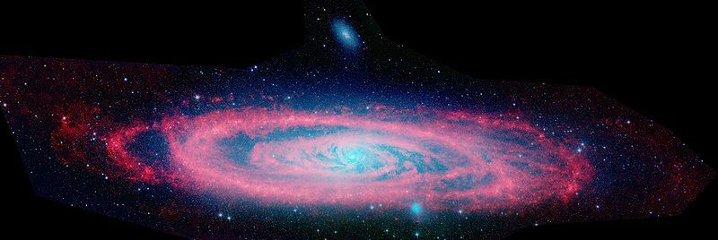 Andromeda from NASA's Spitzer space telescope