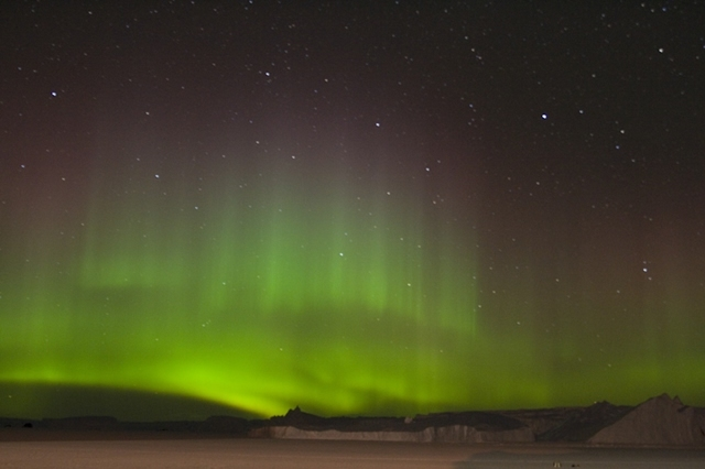 Aurora Australis or the southern polar lights