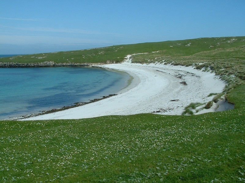 Beach view in Barra, Scotland