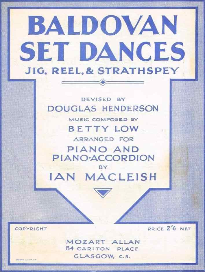 poster for Baldovan Set Dances from the 1960s