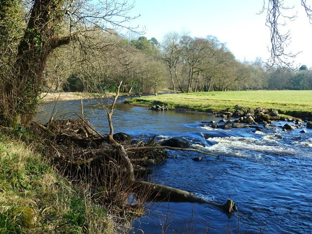 The River Doon in East Ayrshire and South Ayrshire