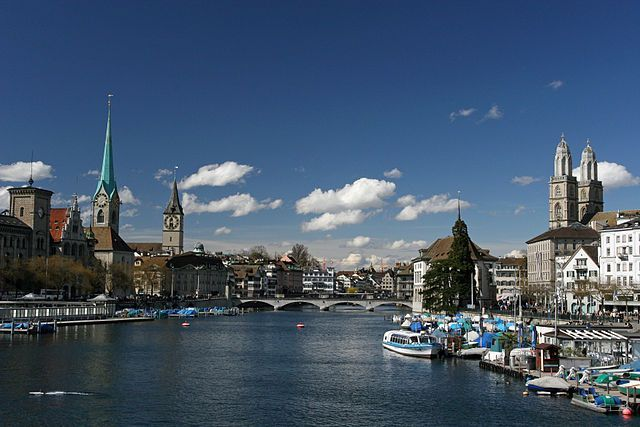 The Banks Of The Limmat Image