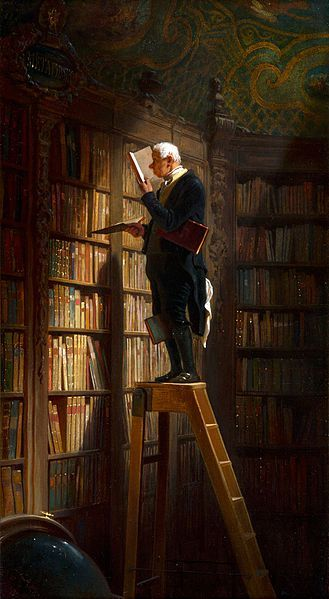 Bookworm Painting Image