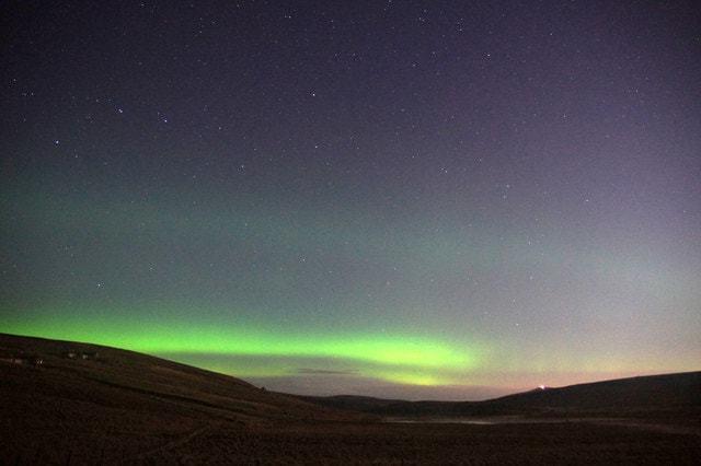 Aurora Borealis Over Loch Of Cliff, Shetland