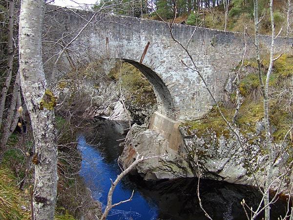 The picturesque Dulsie Bridge, in Nairnshire