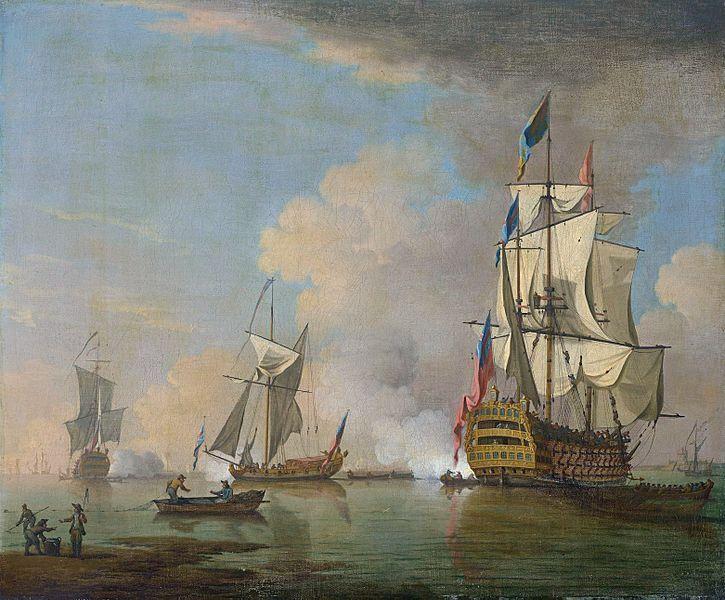 British Man O' War Painting Image