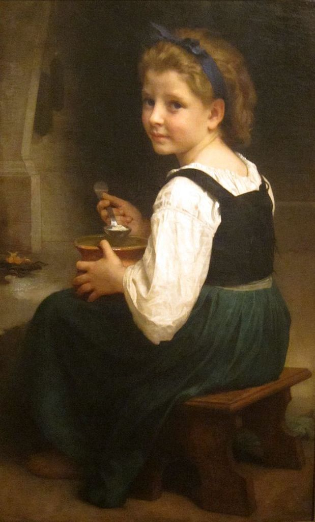 Brochan Lom Girl Eating Porridge Painting Image