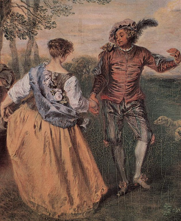Courtship Painting Image