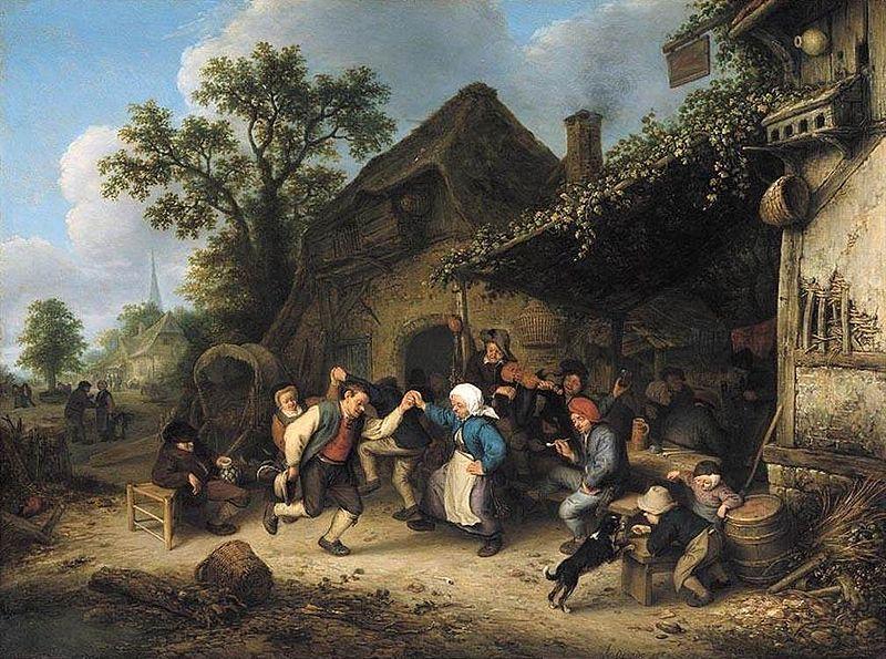 Dancing Peasants Painting Image