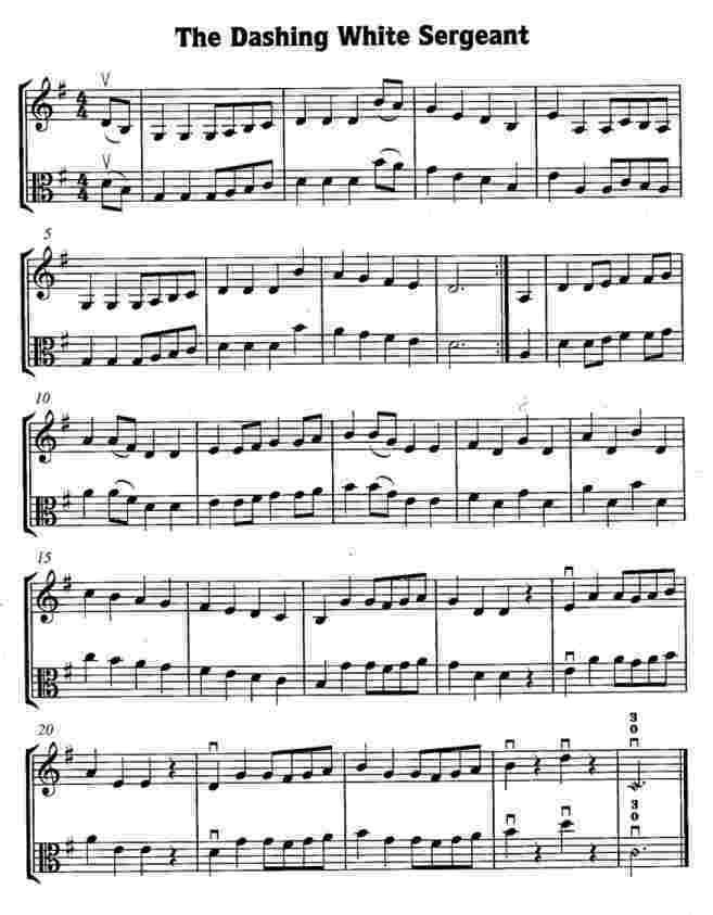 Dashing White Sergeant Music Score Image