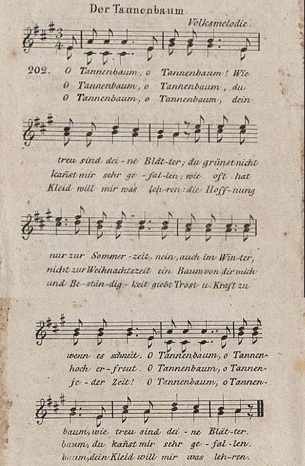 Der Tannenbaum 1824 - O Christmas Tree
