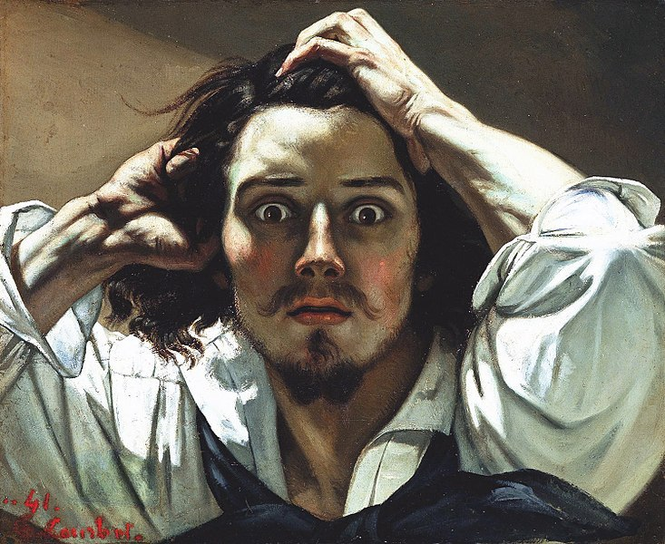 The Desperate Man, Gustave Courbet, Oil On Canvas