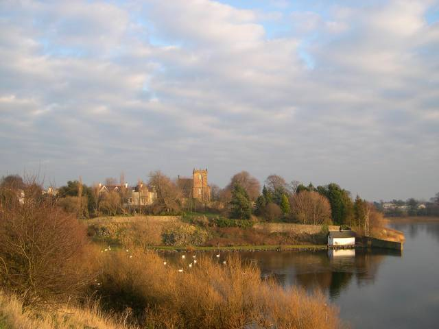Duddingston Loch With Church In Center Image