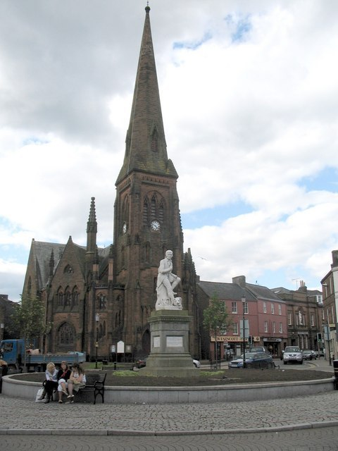Burns Statue Dumfries Image