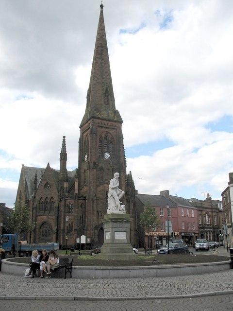 Burns Statue Dumfries Image