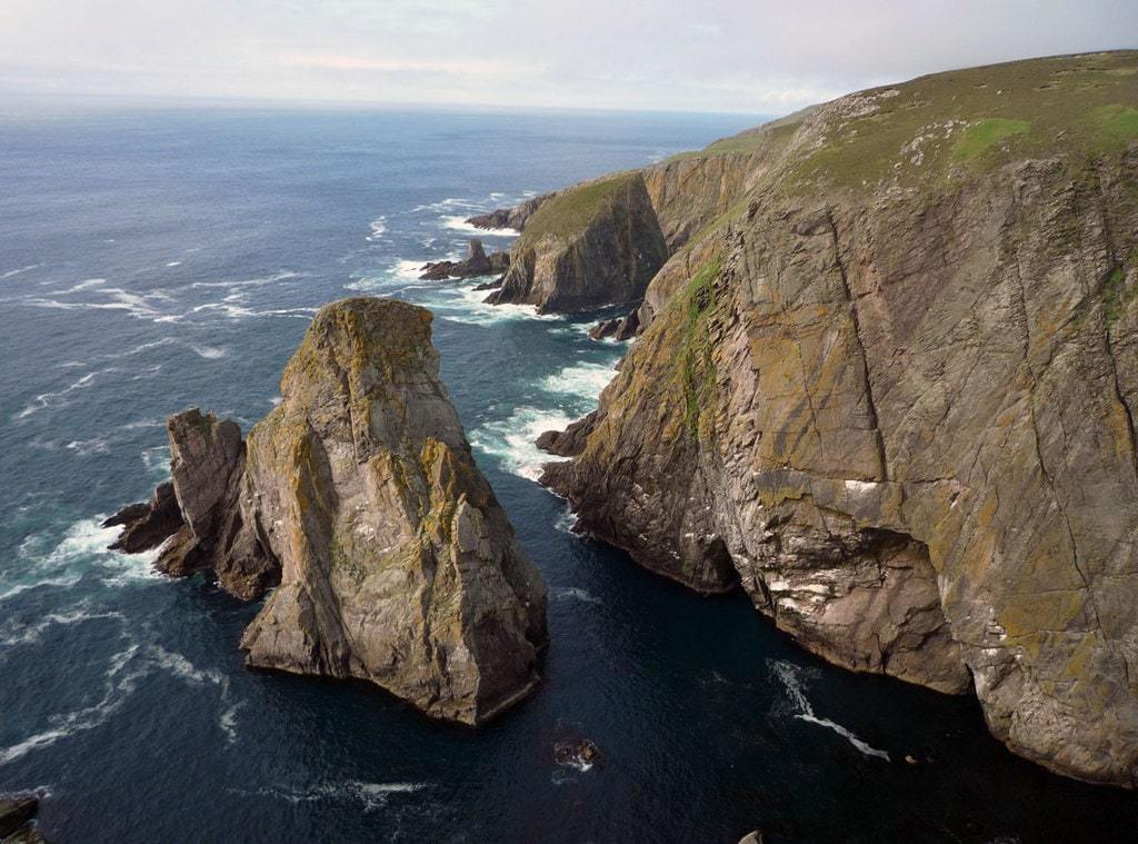 Sea Stack, Hoiliff and western cliffs of Fair Isle