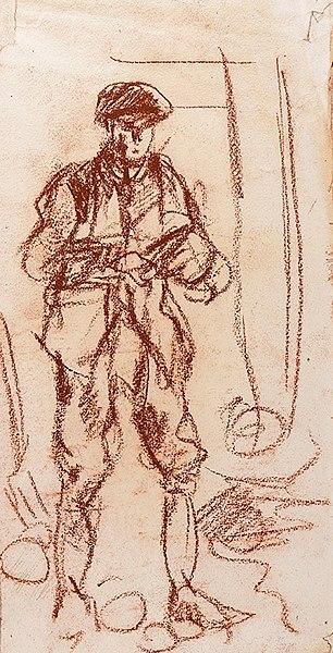 Farm Labourer Painting Image