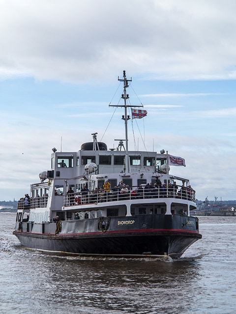 Ferry Boat On The Mersey Image