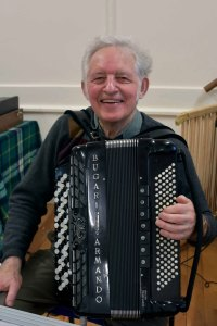 Peter Elmes With His Accordion Image