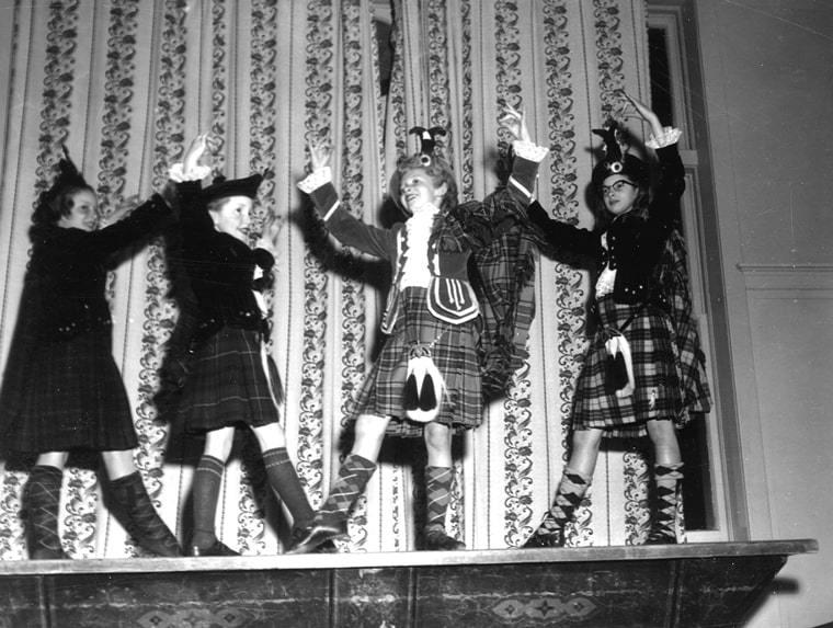 Young Scottish Dancers Having Fun