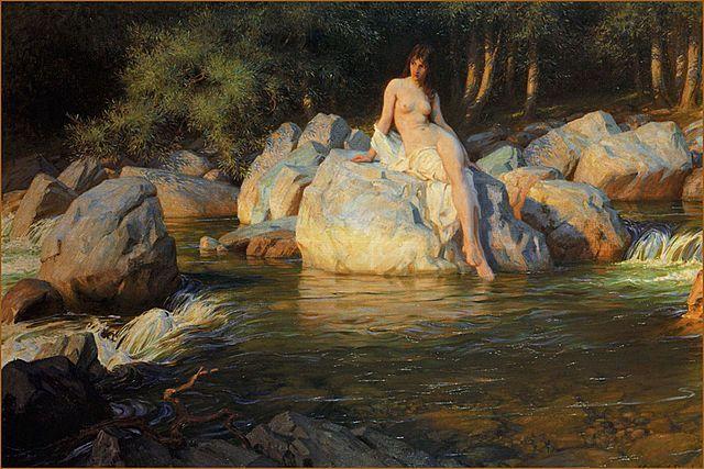 The Lakeside Kelpie Painting Image