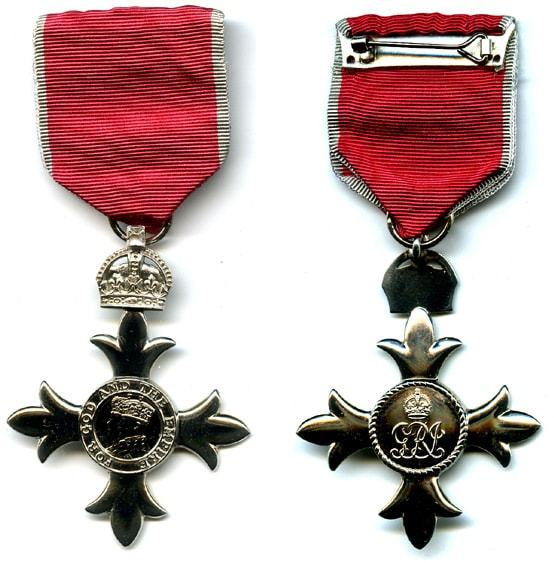 MBE Medal, Front And Obverse