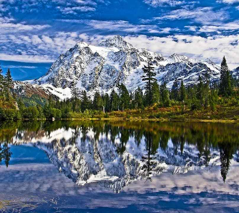 Mount Shuksan in the evergreen state