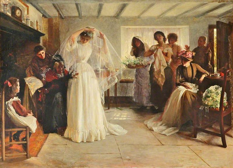 Wedding Morning Painting Image