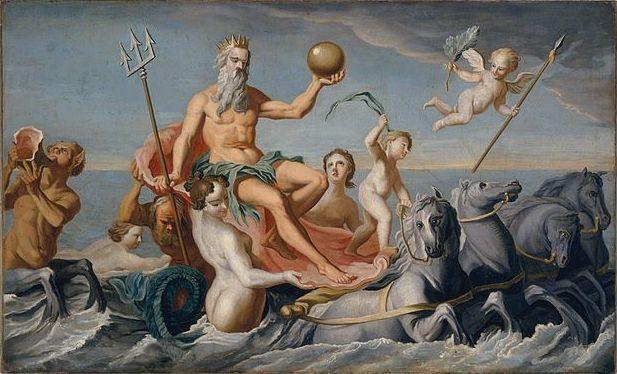 King Neptune Painting Image