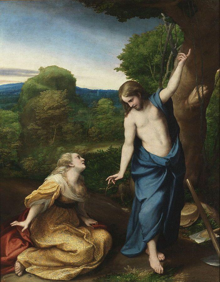Noli Me Tangere by Antonio da Correggio - oil on canvas