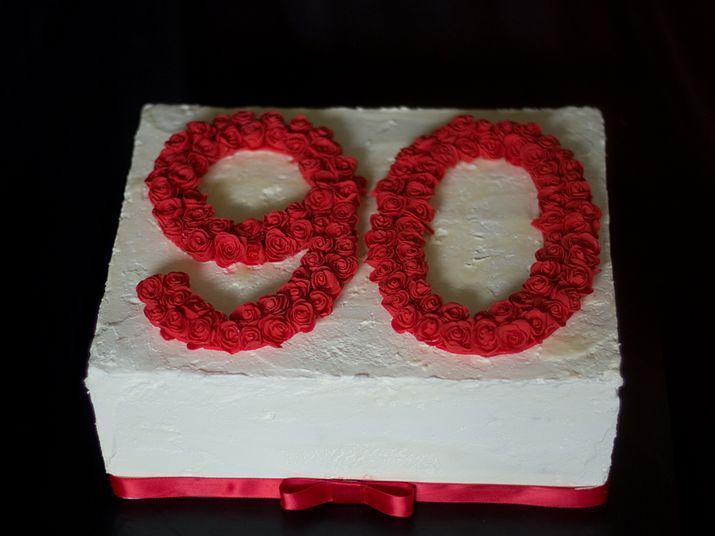 Nonagenarian Birthday Cake Image