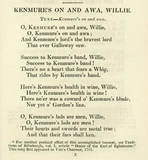 O Kenmure's On And Awa'