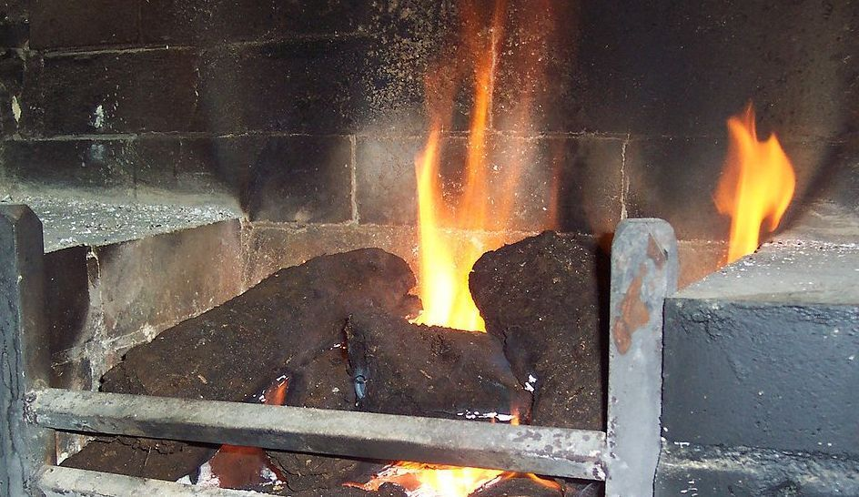 Peat Fire Flame Image