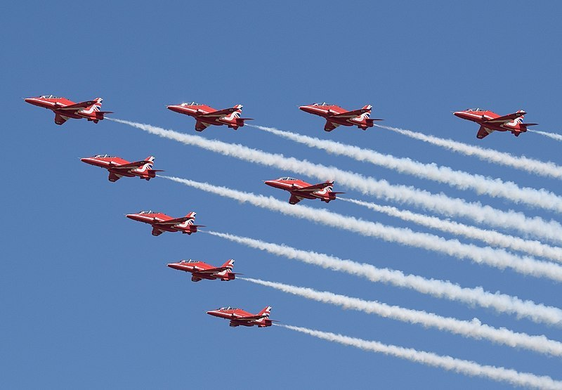 The Red Arrows Green Image