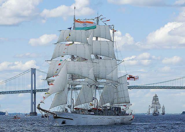 Ship In Full Sail Image