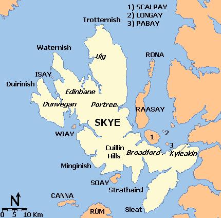 The Isle Of Skye Map