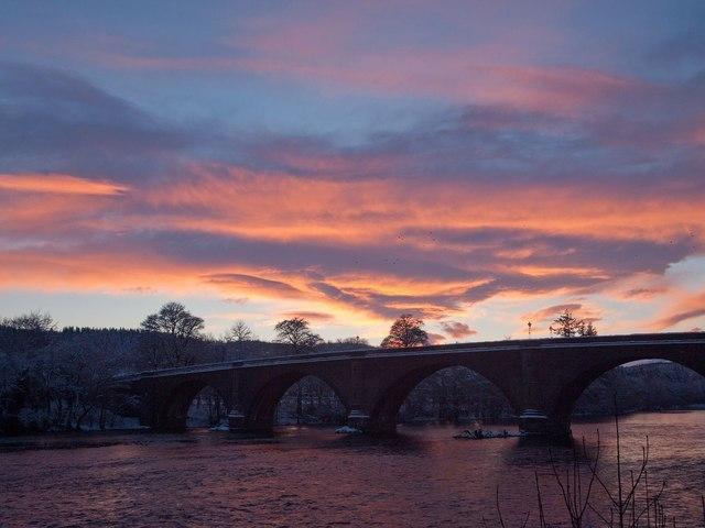 Sunset On The Tay Image