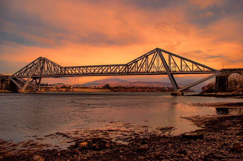 Sunset Over Connel Bridge Image
