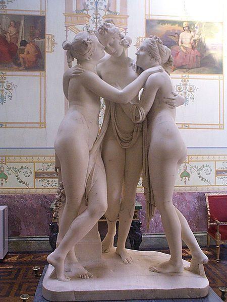 Three Bonnie Maidens Statue Image