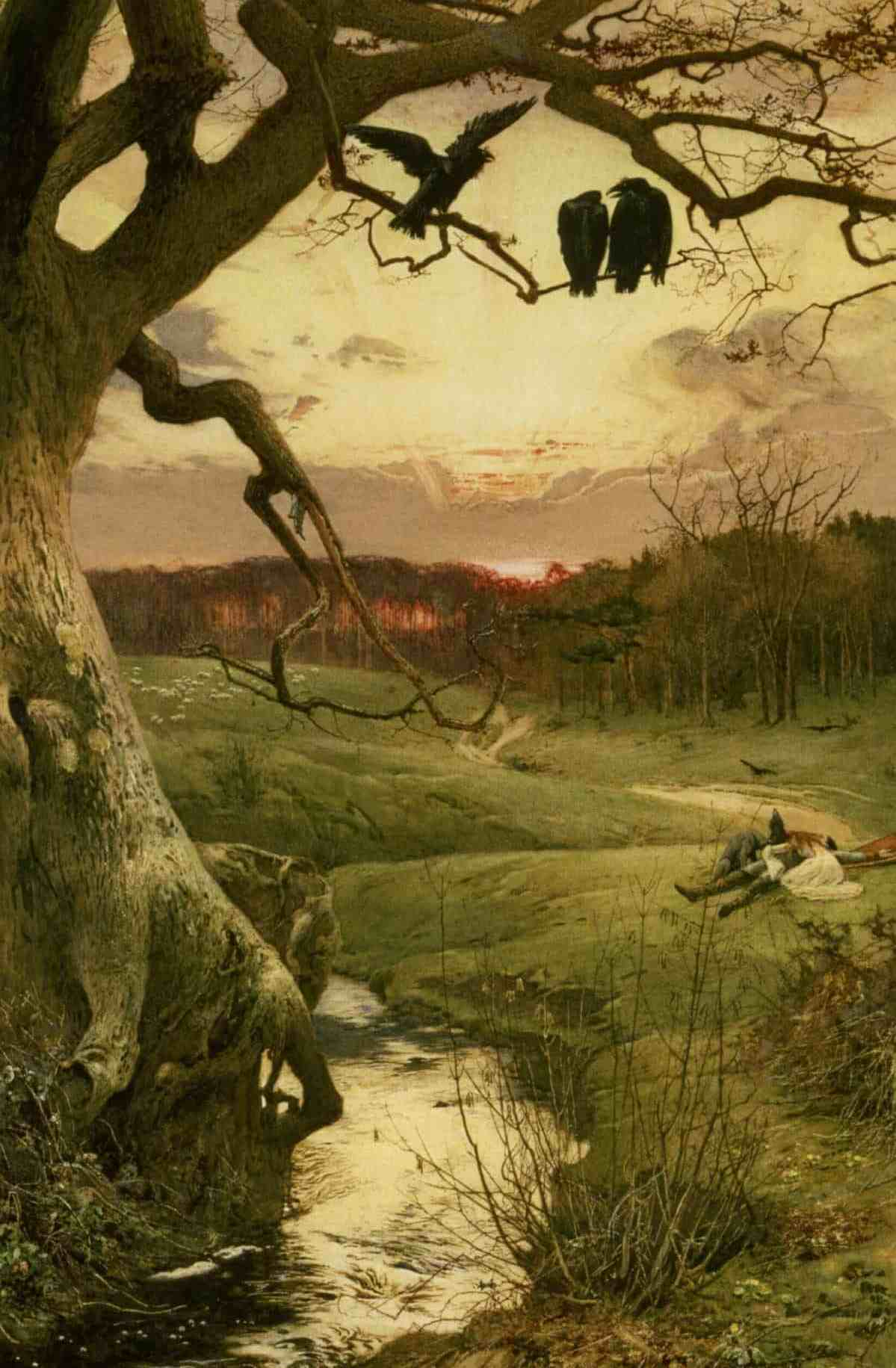 The Three Ravens Painting Image
