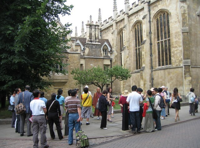 Tourists In Cambridge Image