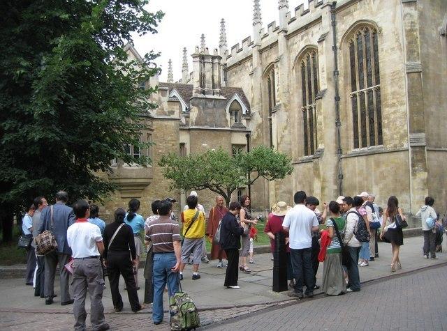 Tourists In Cambridge Image