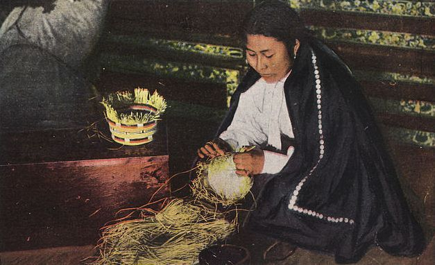 Weaving The Basket Image