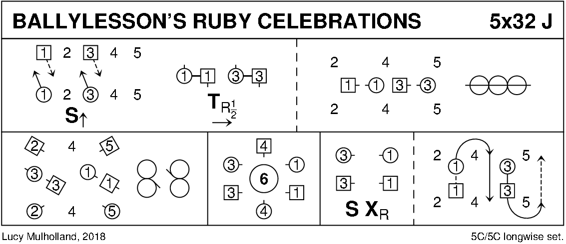 Ballylesson's Ruby Celebrations Keith Rose's Diagram