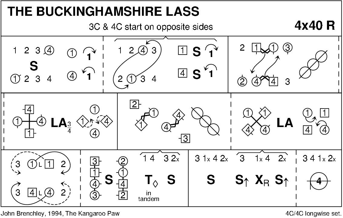 The Buckinghamshire Lass Keith Rose's Diagram