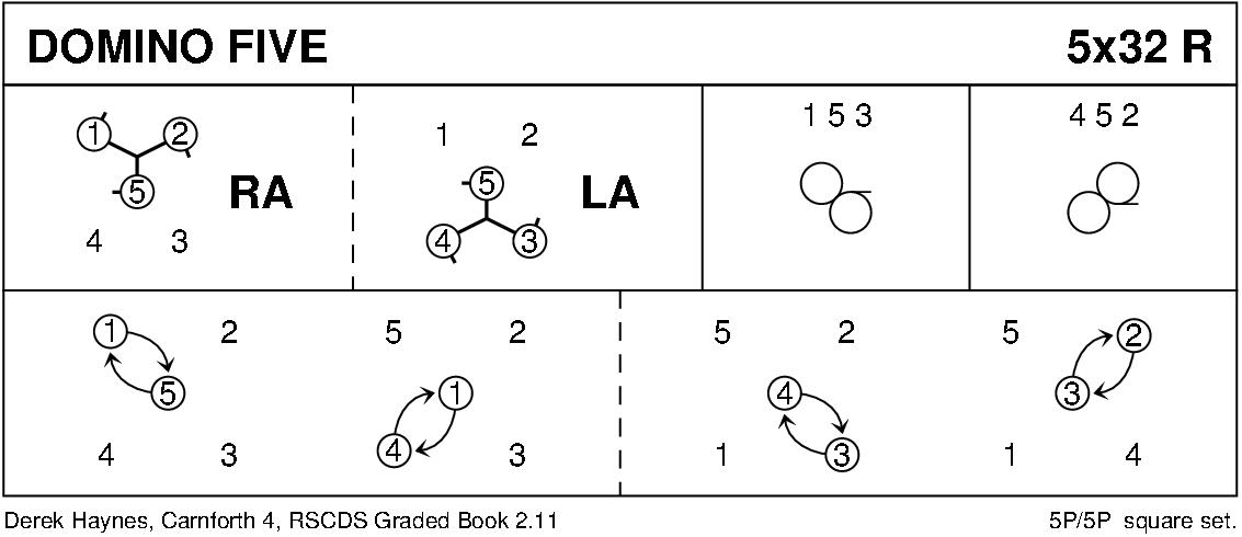 Domino Five Keith Rose's Diagram