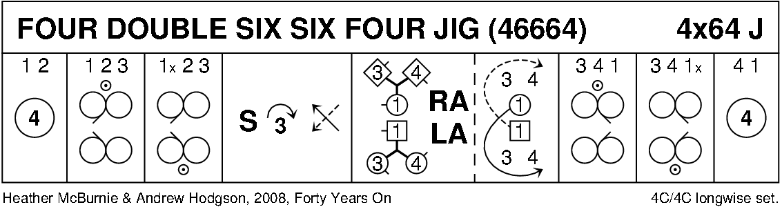Four Double Six Six Four Jig Keith Rose's Diagram