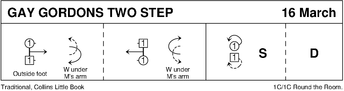 The Gay Gordons Two Step Keith Rose's Diagram